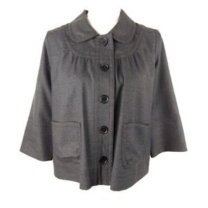 J. Crew Factory Wool Blend Gray Jacket Sz 4